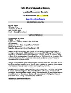 Sample Usajobs Resume Federal Prose